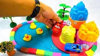 DIY How To Make Mini Swimming Pool with 2 House for Baby Ducks, from Mad Mattr, Slime, Tree Model