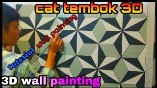Cat tembok 3D - 3D wall painting tutorial- wall art painting decoration ideas