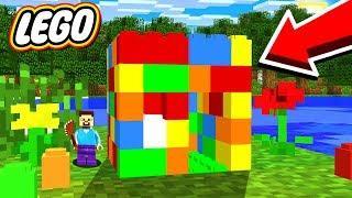 WORLDS SMALLEST LEGO HOUSE IN MINECRAFT!