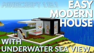 How to Build a Modern House in Minecraft with a HUGE SEA AQUARIUM | Minecraft Tutorial with Avomance
