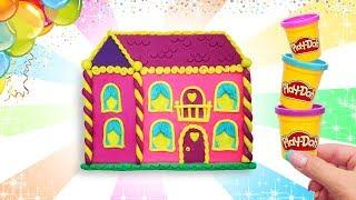 Play Doh House Barbie. Making Colorful Princess Barbie Doll House. Learn Colors. Video Easy DIY Kids