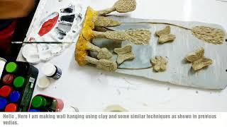 Natural clay wall hanging| home decor | paint wall hanging