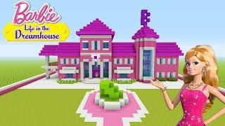 "Minecraft Tutorial: How To Make a Barbie House ""Barbie Life In The Dreamhouse"""
