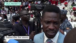 BOBI WINE CONVOY VS MUSEVENI CONVOY AT NAMUGONGO ANTI KALE
