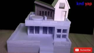 How To Make A BEAUTIFUL MANSION House From styrofoam | European country house Project part 1????????