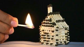 DIY Match Stick House Fire
