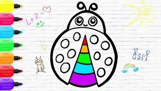 Ladybug Coloring for Baby and Children | Drawing for kids