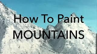 How to paint mountains simple and easy painting idea for beginners