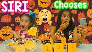 Siri chooses my Mystery bags Halloween Slime Ingredients Challenge!!!