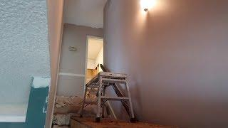 How To Paint A Tall Stairway Ceiling And Walls - SIMPLE & EASY