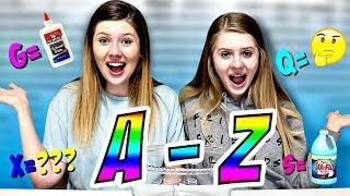 Making Slime in Alphabetical Order || Taylor & Vanessa