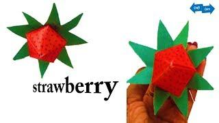 Craft Care How to make strawberry with paper # paper craft idea # this craft idea you should know