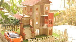 How to make a Sticks House Building - Stick Garden Villa