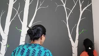 Paint Beautiful Birch trees on your wall