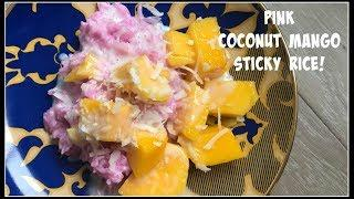 How to make *PINK* COCONUT MANGO STICKY RICE   House of X Tia