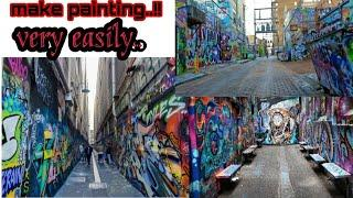 How to make painting on wall || painting like Melbourne walls || best painting on wall || #trending