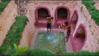 How to build secret underground house and underground water
