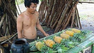 Primitive Technology | Wine Making From Pineapple (Delicious)