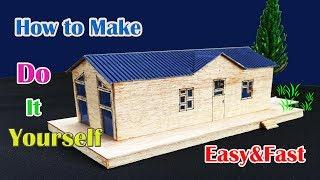 ✔How To Make A Beautiful Miniature Modern House Cardboard - Very Easy With Craft (Paper Project )