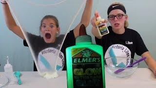 Glow in the Dark Slime!  ELMER'S Glue // Victoria_Lilee Vids