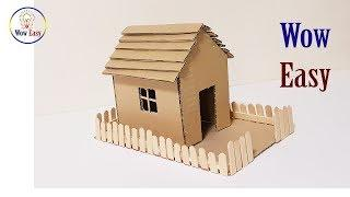 How to make a cardboard house | EASY DIY cardboard house project
