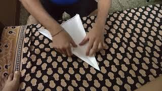 Paper Aeroplane - How to make (पेपर से हवाई जहाज कैसे बनाएं)