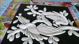 DIY BIRD CLAY MURAL PAINTING ON CANVAS / 3D WALL HANGING