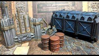 Warhammer 40k Kill Team Terrain - How to Paint Ruin Walls