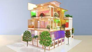 Building Popsicle Stick Mansion House - Popsicle Garden Villa - Architecture - Mode 03