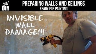 Horrible Ending! Preparing Walls and Ceilings for Painting - LCW DIY Vlog #8