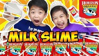 Don't Choose the Wrong Milk Slime Challenge ???? How to make DIY Milk Slime! JANICE AND KINGSTON