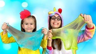 Kids make COLOR SLIME How to make slime Funny video for kids Joy Joy Lika