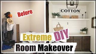 EXTREME ROOM MAKEOVER | DIY Mudroom Makeover | DIY Shiplap Wall | Basic to Aesthetic