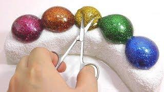 DIY How To Make 'Water Balloons Glitter Banana Clay' + Learn Colors Slime Combine