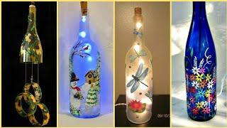 Wine Bottles Decoration Ideas || Diy Wine Bottles Craft