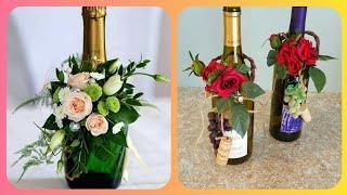 Wine Bottle Flower Decoration Arrangement Ideas Beautiful Bottles Flower Arrangements