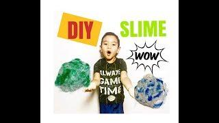 How to make slime: powder laundry detergent, glue