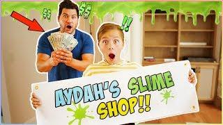 SECRET SLIME SHOP IN OUR HOUSE!! SELLING SLIME AT SCHOOL!