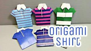 DIY Origami Shirt ???? • How to make paper origami Shirt • Paper Craft • Easy Craft •