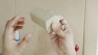 How to make single paper House DIY 02
