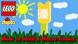 Lego House-flower. How to make with Lego Bricks Stop motion animation HD