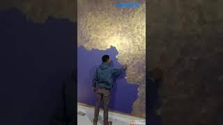 Color wash wall painting by Akbar art