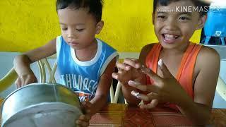 How to make slime( paano gumawa ng slime daw? )