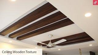 Wooden POP False Ceiling Design for Living Room | AapkaPainter
