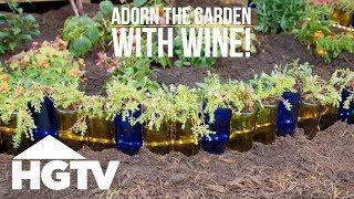 Wine Bottle Garden Bed Edging - Way to Grow - HGTV