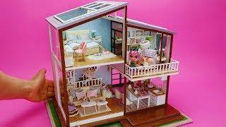 DIY Miniature Dollhouse Rooms Barbie Dream House