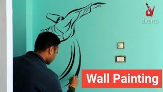 #wallpainting #walldesign Wall painting | latest wall painting for bedroom | wall design | by dvarts
