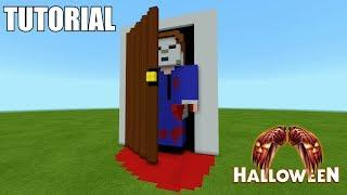"Minecraft Tutorial: How To Make A Michael Myers ""Halloween"" !! (Survival House)"