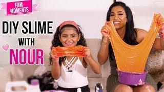 DIY Colored Slime With My Daughter!