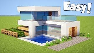 Minecraft: How to Build a Small & Easy Modern House - Tutorial #20